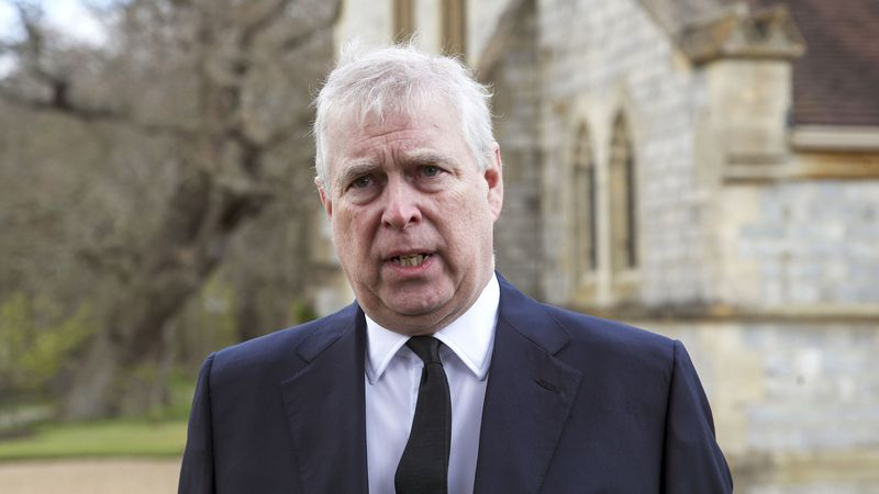 This photo shows Britain's Prince Andrew during a television interview at the Royal Chapel of...