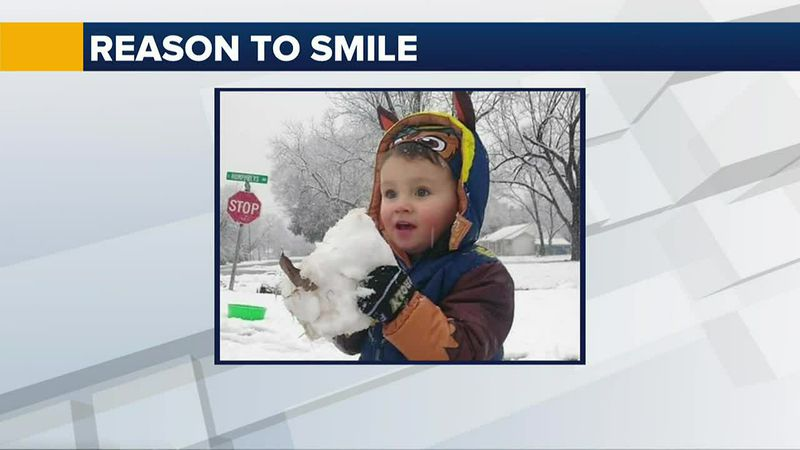 This week's reason to smile was sent to us from Wanda Deiterich. She said her great-grandson is...