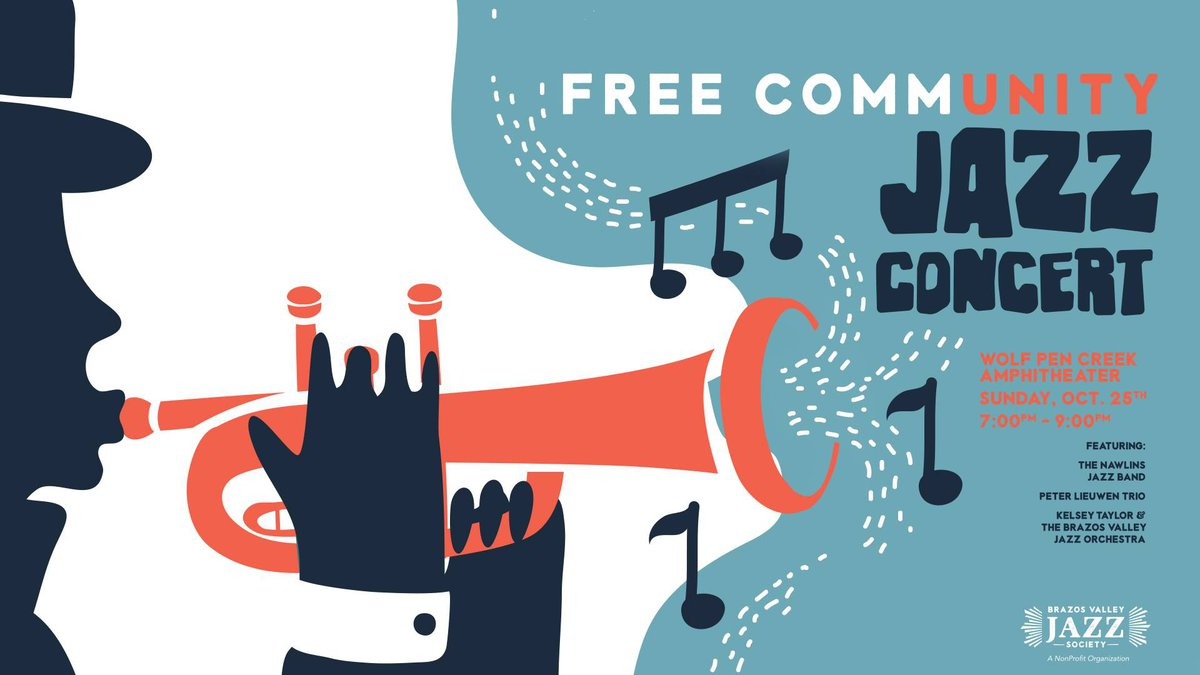 A free community jazz concert is scheduled for Sunday, October 25 at Wolf Pen Creek Park in...