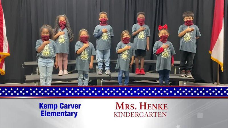 Daily Pledge - Kemp Carver Elementary - Mrs. Henke's Class