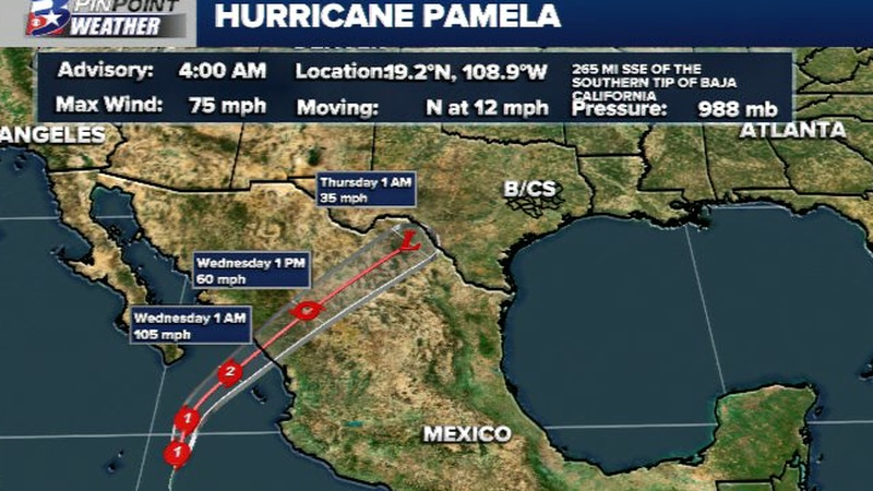 Pamela has become a hurricane in the eastern Pacific.