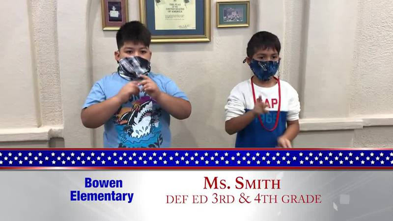 Daily Pledge – Bowen Elementary – Ms. Smith's Class