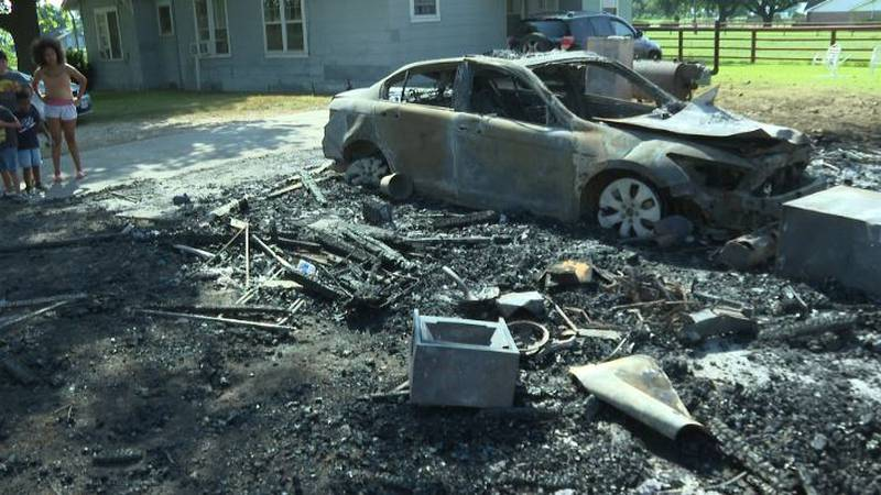 A Hearne family says their four-year-old grandson saved their lives as their property caught...