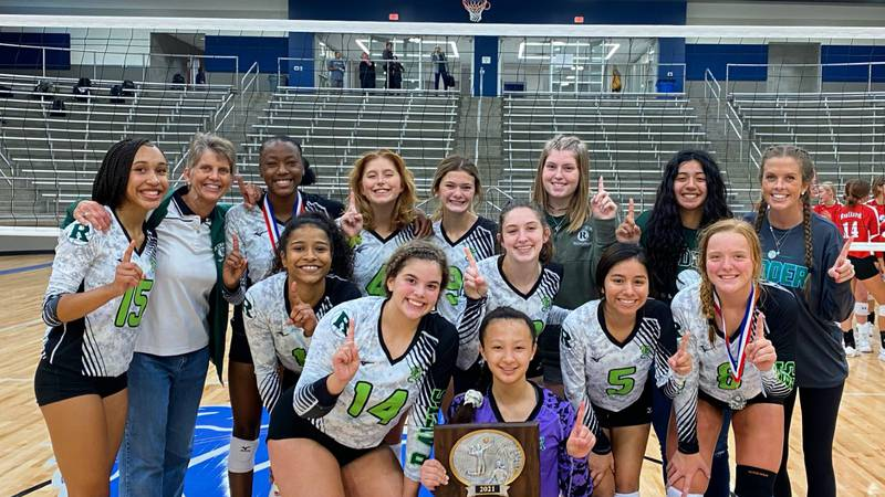 The Rudder volleyball team went undefeated to win the Tyler ISD Tournament.
