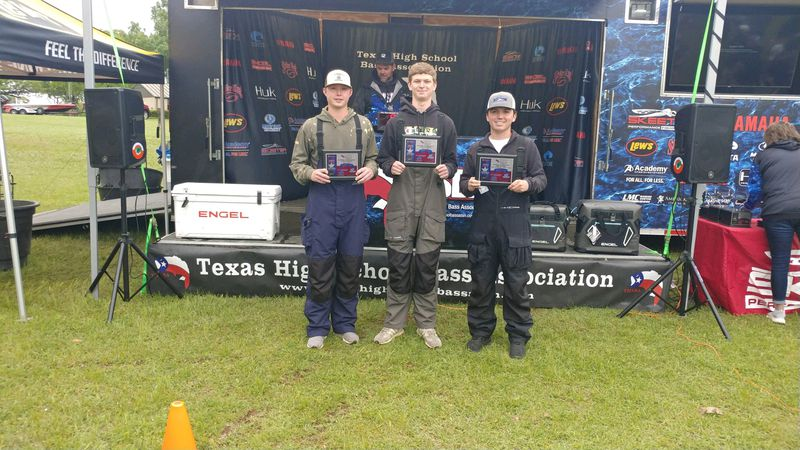 Bryan ISD anglers Kade Danford, Aidan Howard, and boat captain, Hayden Muth came in 4th place...