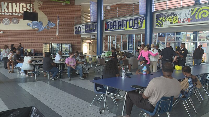 Community leaders from schools, churches, and the police department gathered in the Bryan High...