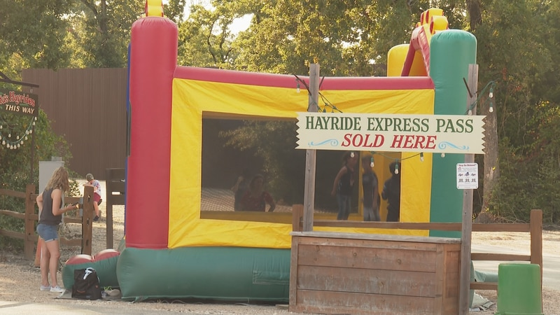 Bounce house at the I love America event in College Station Saturday.