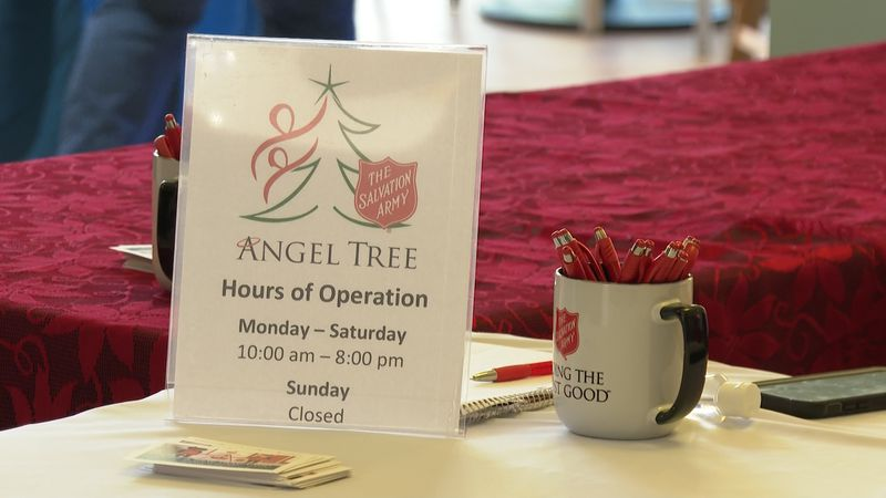 Angel Trees are located inside Post Oak Mall and the Walmart off Briarcrest.
