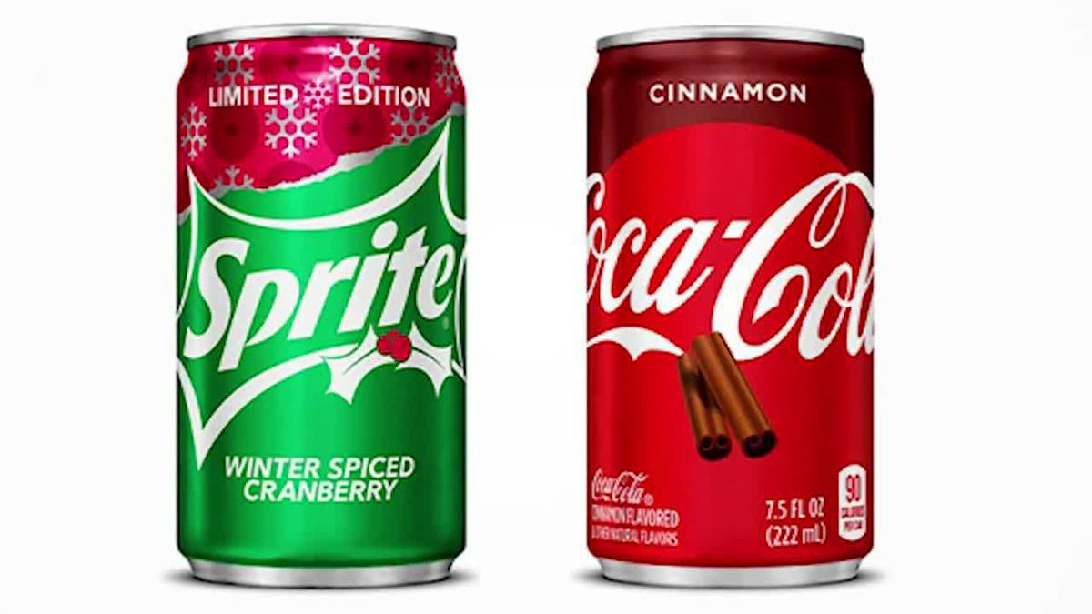 It's the first time the soft-drink giant has offered a special holiday flavor of Coke in the United States. (Source: Coca-Cola, CNN)