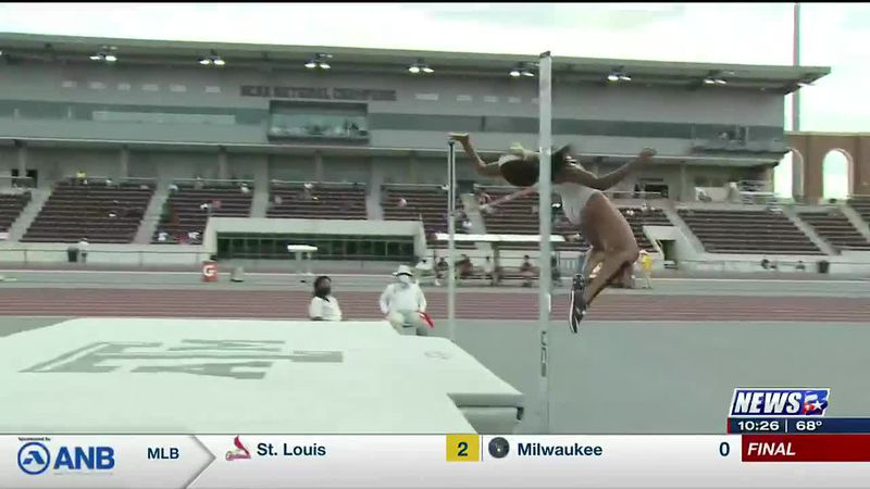 Powered by record breaking high jump Gittens takes lead in SEC Heptathlon