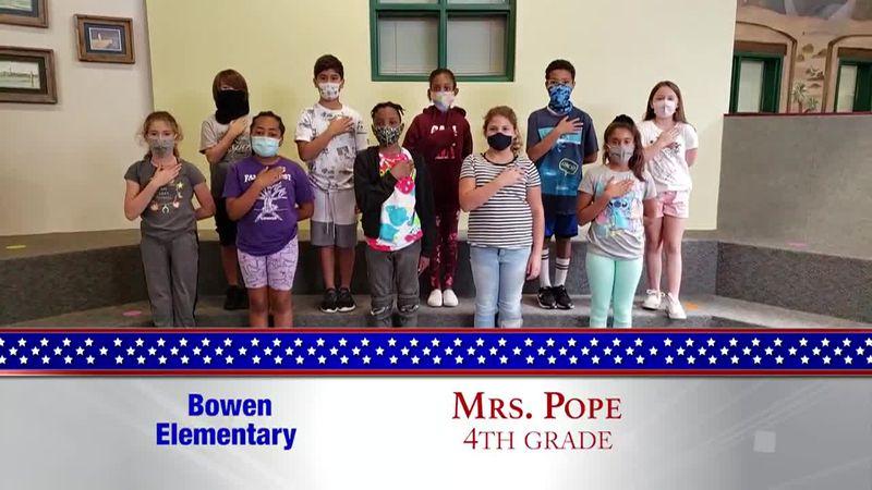 Daily Pledge - Bowen Elementary - Mrs. Pope's Class