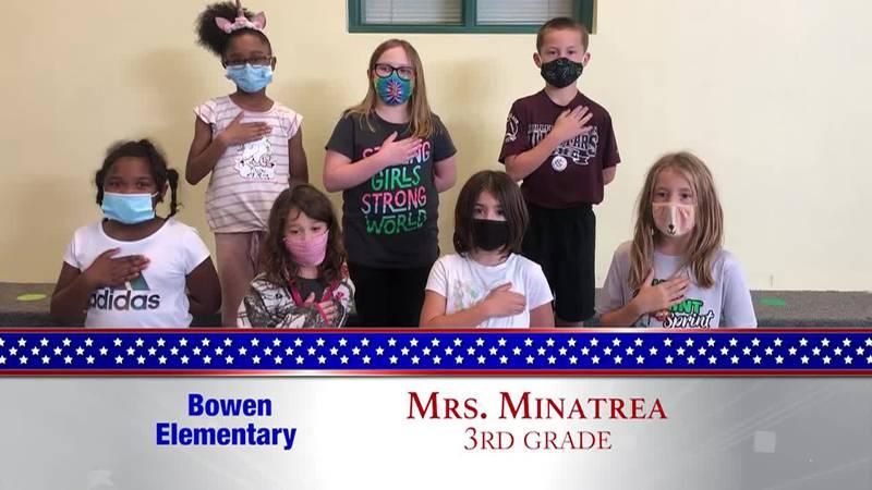 Daily Pledge – Bowen Elementary – Mrs. Minatrea's Class