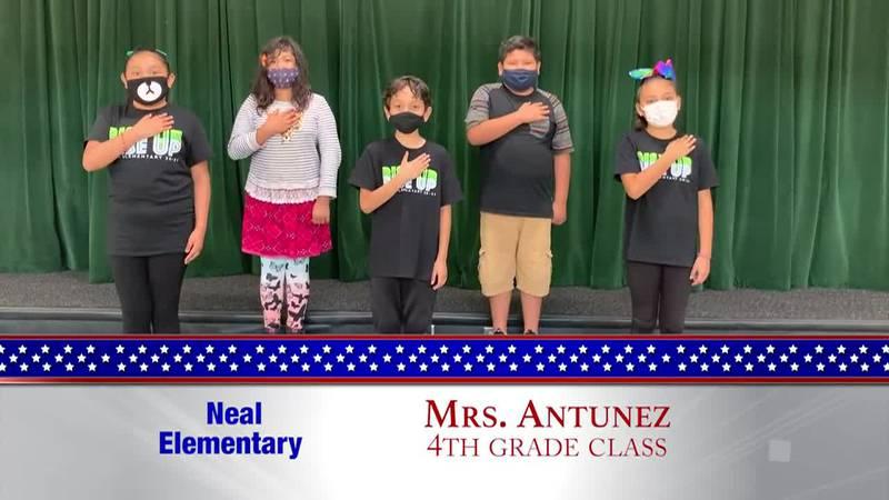 Daily Pledge - Neal Elementary - Mrs. Antunez's Class