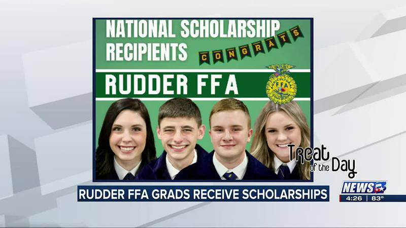 Treat of the Day: Rudder FFA grads receive scholarships