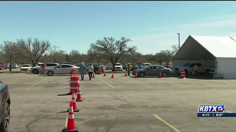 Local health officials encouraged by Brazos Center vaccine hub efficiency