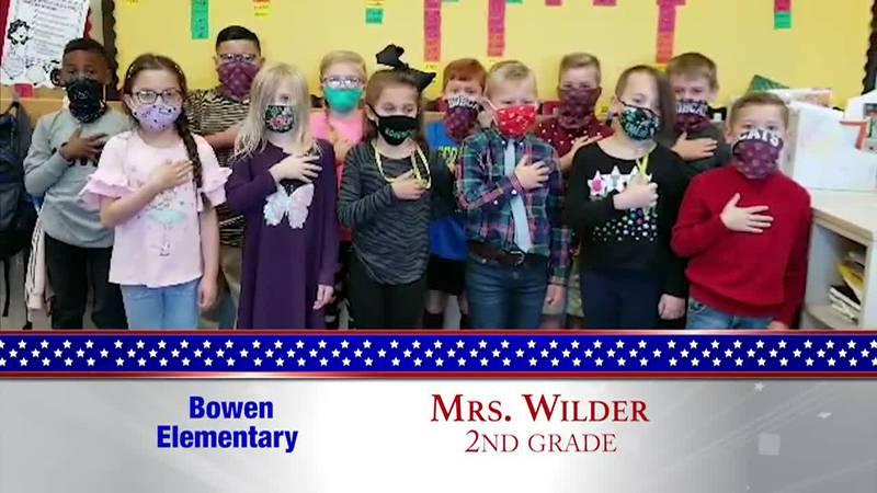 Daily Pledge – Bowen Elementary – Mrs. Wilder's Class