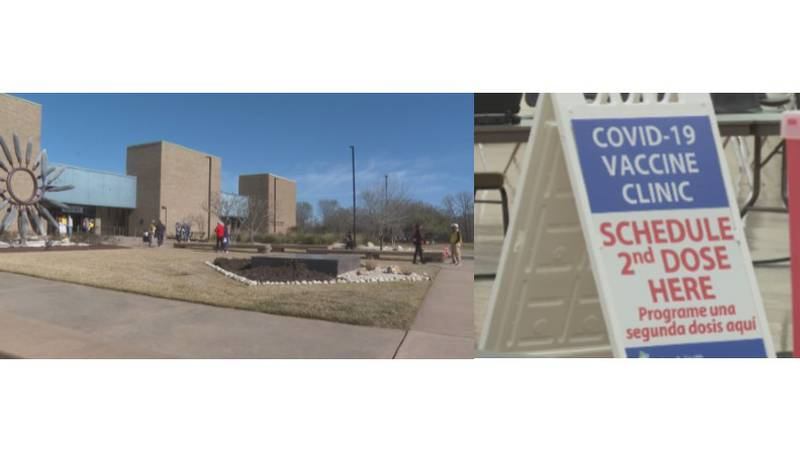 The Brazos Center vaccination hub will be up and running again Monday but with fewer vaccines...