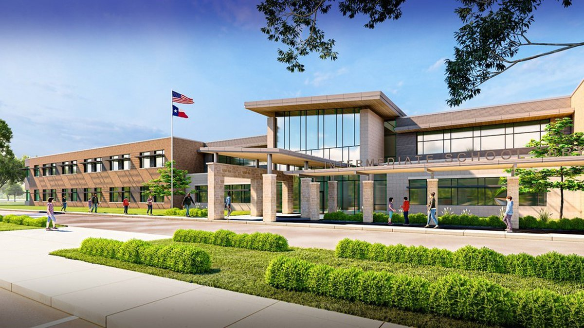A rendering provided by Bryan ISD of the new intermediate school.