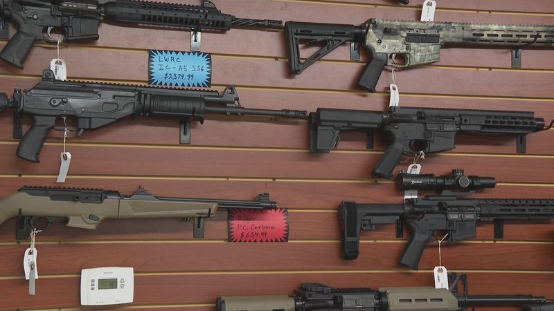 Firearm display at Circle Star Firearms in Anderson