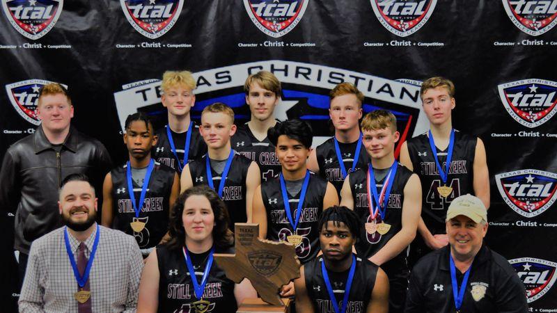 Still Creek Academy boys' basketball team after winning their first-ever state championship.