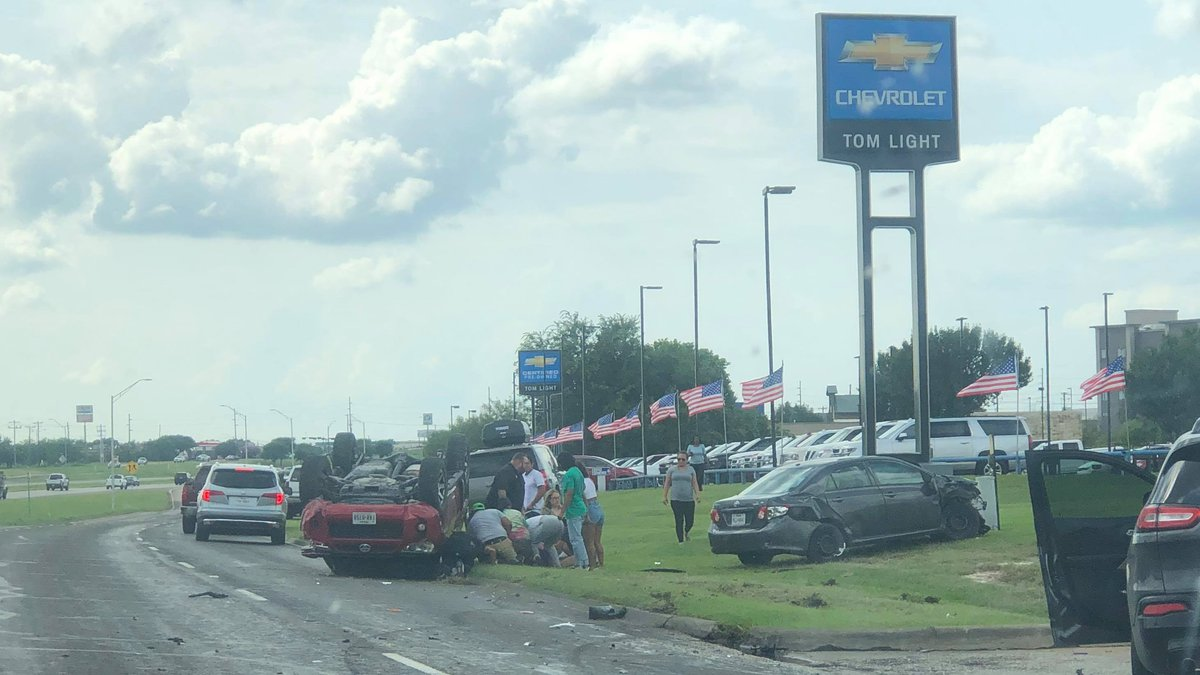 Bryan police say two people were sent to the hospital with non-life-threatening injuries...