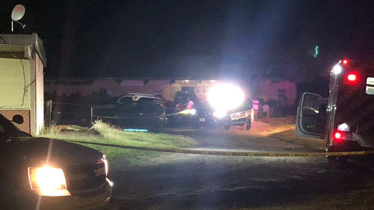 Several Hearne police officers are in the 1100 block of Riley Street Monday night for an...