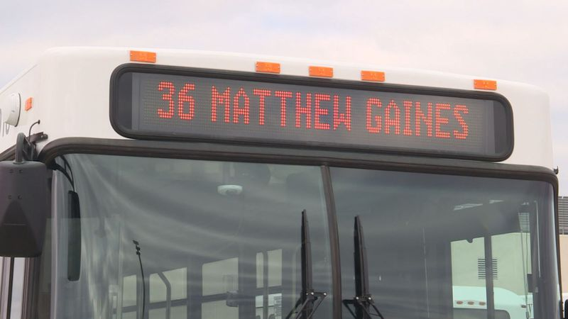 Route 36 at Texas A&M has changed to the Matthew Gaines Bus Route.