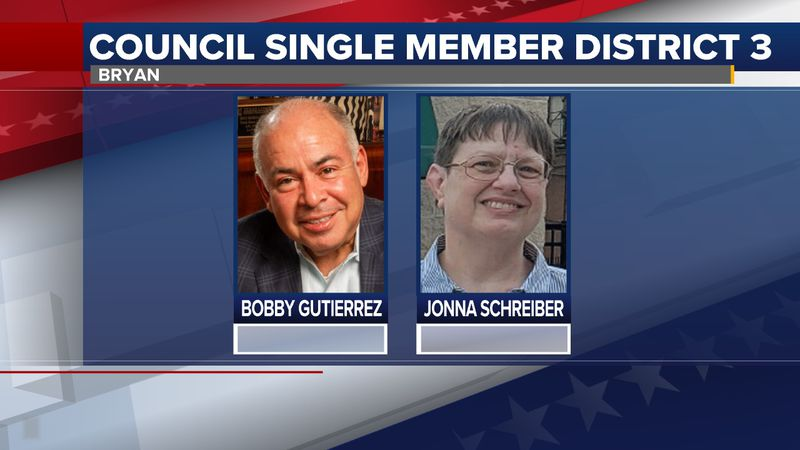Bobby Gutierrez and Jonna Schreiber are competing for the seat on this November's ballot.