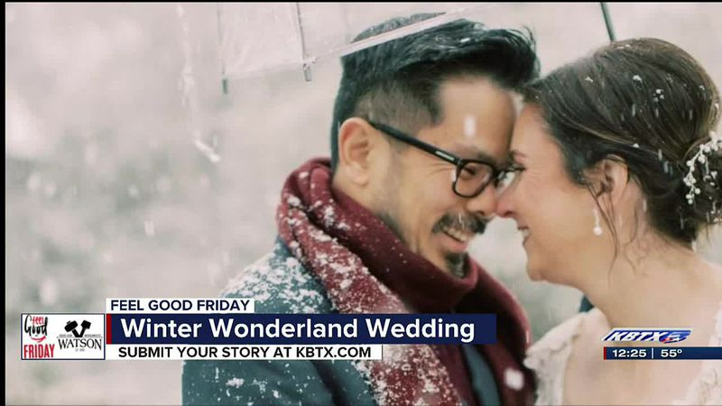 Local couple surprised with winter wonderland wedding