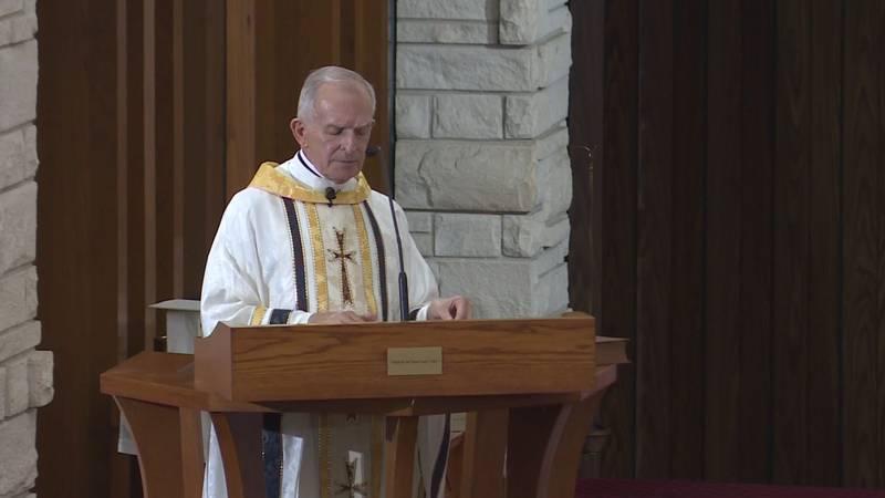 Monsignor McCaffrey was injured Sunday morning in Groesbeck.