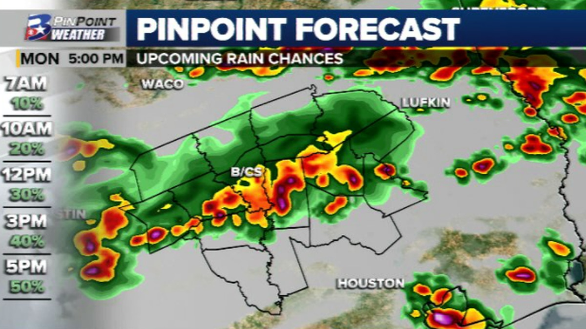 Higher rain and storm chances are back this week.