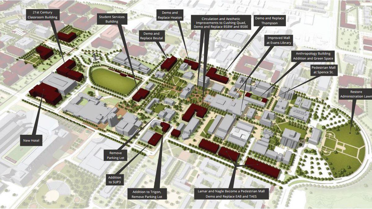 Texas A M University Reveals New Campus Master Plan
