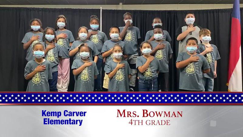 Daily Pledge - Kemp Carver Elementary - Mrs. Bowman's Class
