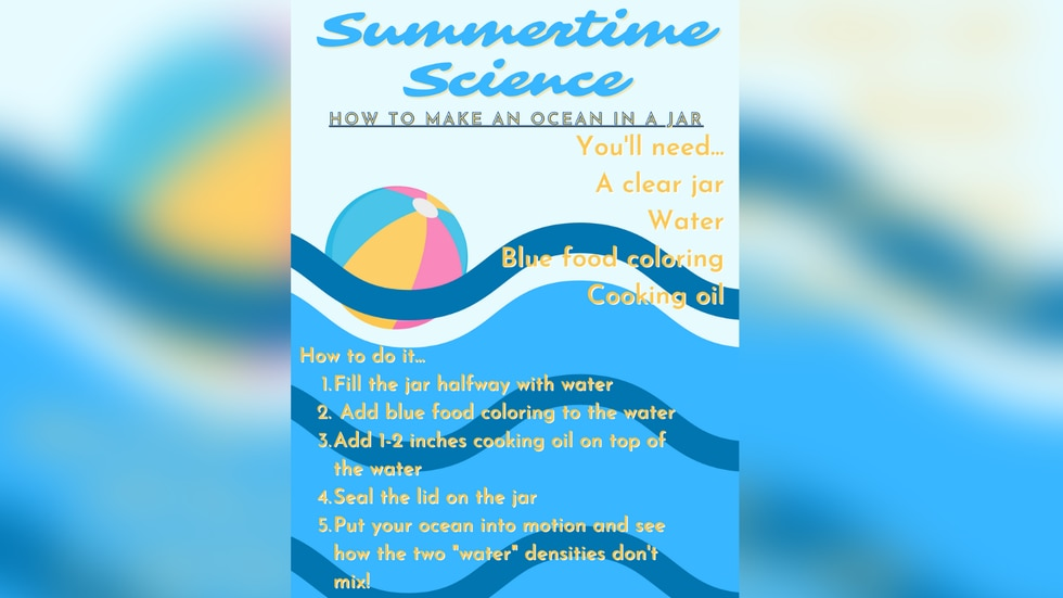 Learn about the anatomy of the ocean by making a ocean in a jar