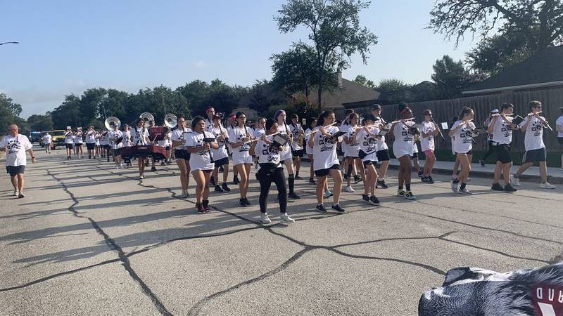A&M Consolidated HS Tiger Band marches in annual March-A-Thon