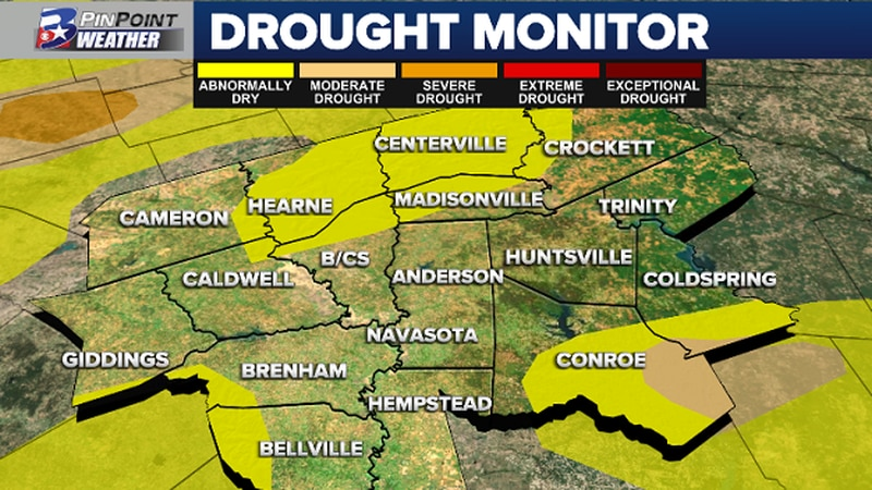 Great news in the local Drought Monitor for this week! Parts of the far western and southern...