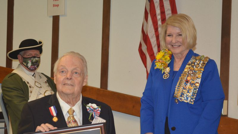 Mervin Dansby Peters was honored with the National Society Daughters of the American Revolution...