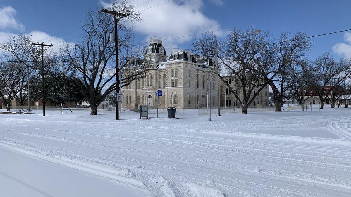 Snow in Franklin, TX
