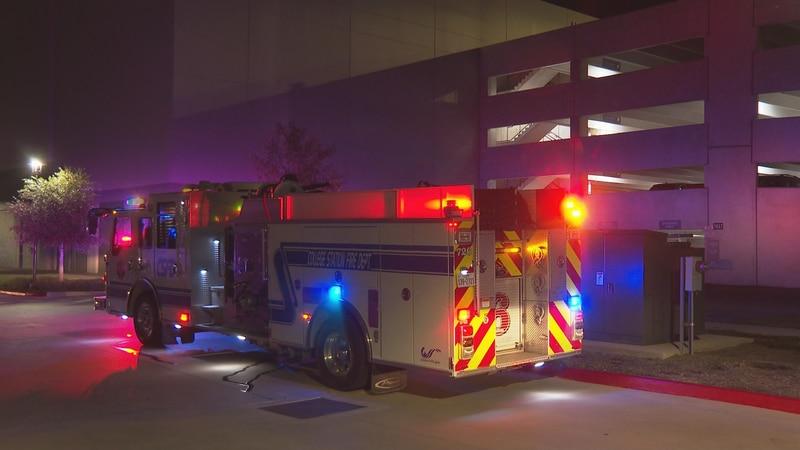 The College Station Fire Department investigates potential issue with Century Square parking...