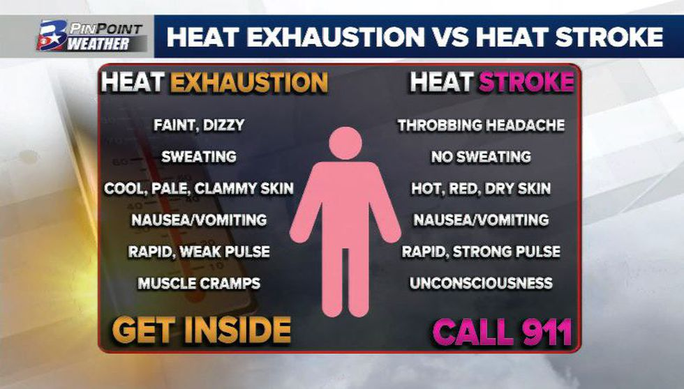 Know the difference! Both are similar and potentially dangerous, but heat stroke is much more serious.