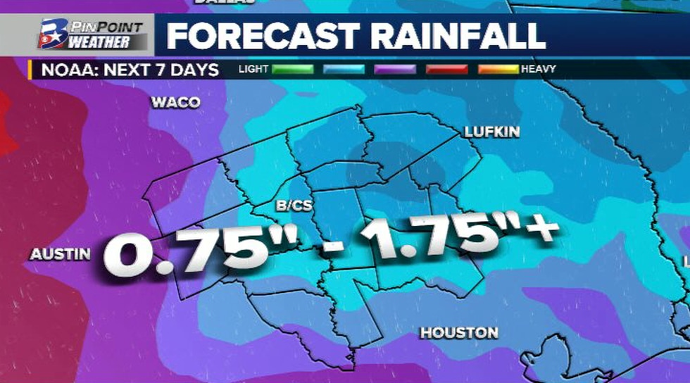 """Numbers may need to be adjusted a touch, but currently rainfall totals in the 0.75"""" - 1.75""""..."""
