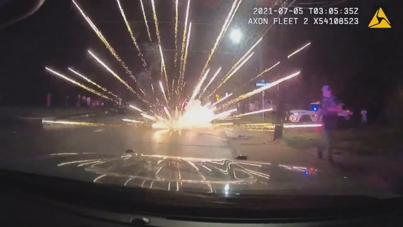 This is what the scene looked like in the 800 block of East MLK Street Sunday night. The image...