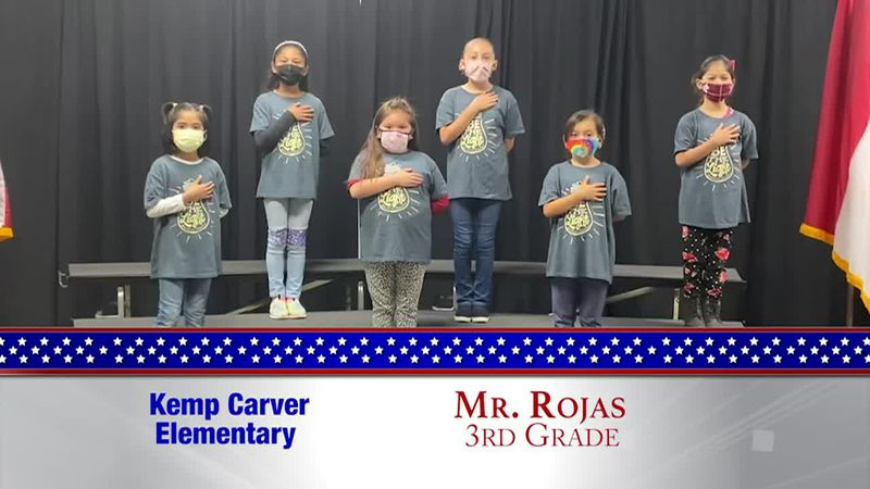 Daily Pledge - Kemp Carver Elementary – Mr. Rojas' Class