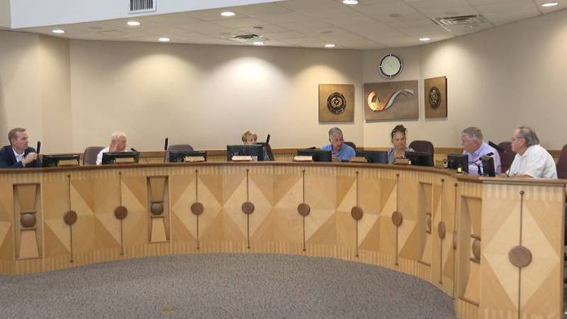 College Station City Council members in Tuesday's special meeting.